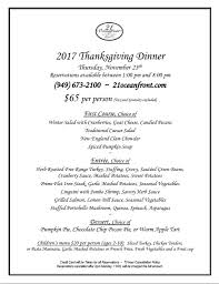 21 oceanfront dining newport thanksgiving burr white