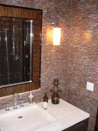 Tile Bathroom Walls Ideas by Glass Tile Bathroom Walls Get Inspired With Home Design And