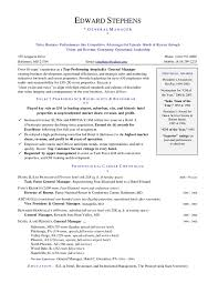 hotel general manager resume resume ideas