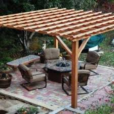 Contemporary Backyard Ideas Exterior Green Lawn And Pergola Covers Also Wooden Pillars For