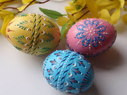 wax easter egg decorating decorated eggs set of 3 banty eggs traditional eggs