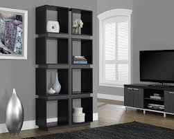 Monarch Design by Amazon Com Monarch Specialties Black Grey Hollow Core Bookcase
