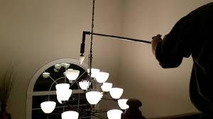 high ceiling light bulb changer giraffe motorized light bulb changing system youtube