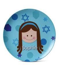 hanukkah plate personalized hanukkah plate girl special days chanukkah