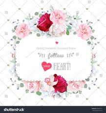wedding backdrop design vector square floral vector design frame orchid stock vector 568069612