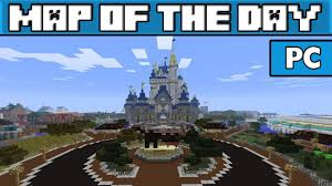 Magic Kingdom Map Orlando by Disney World Magic Kingdom Minecraft Pc Map W Link Youtube