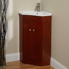 Corner Bathroom Vanities And Cabinets by Bathroom Adorable Brown Corner Bathroom Vanity Using Bamboo