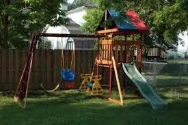 backyard swing sets interior home design ideas