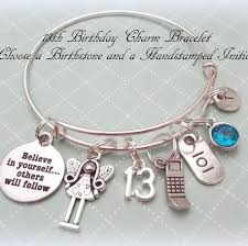 Birthday Charm Bracelet 13th Birthday Charm Bracelet Hope Is Hip Jewelry Pinterest