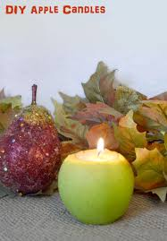 how to make diy apple candles for fall mommy scene