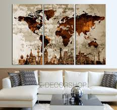 World Map Canvas Art by The World Of The Wonder Together World Map Canvas Print On Old