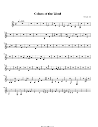 Color Of The Wind Colors Of The Wind Sheet Music Colors Of The Wind Score