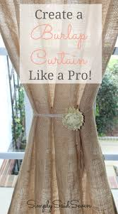 learn to create a perfect burlap curtain like a pro sewing and no