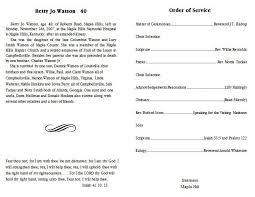Funeral Programs Samples Funeral Program Samples Formats Csat Co
