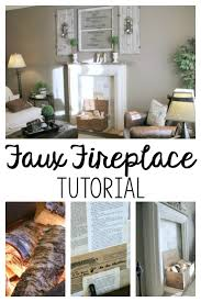 Build Faux Fireplace Diy Faux Fireplace Tutorial Noting Grace
