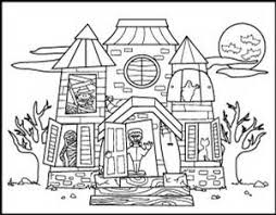 haunted house coloring pages halloween coloring pages