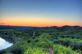 North Dakota National Parks images Dusk over hills and grassland at theodore roosevelt national park jpg