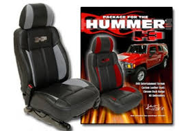 Seat Upholstery Hummer H3 Katzkin Leather Seat Upholstery Kit Shopsar Com
