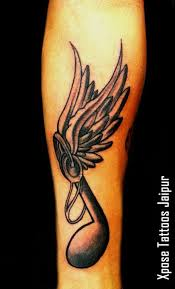musical note wings by xpose tattoos jaipur india xpose
