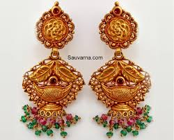 buttalu earrings gold earrings sauvarna indian jewelery