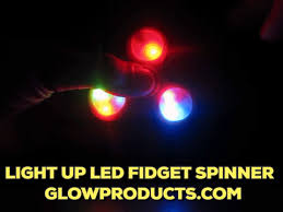 light up fidget spinner with multi color led lights glowproducts