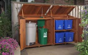 shed idea trash and recycling bin love this dream home ideas pinterest with