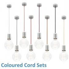 Coloured Cord Pendant Lights Coloured Cord Set Lights Pinterest Cord Pendant Lighting