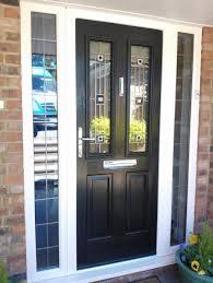 exterior design elegant black composite front door design with