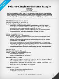 java resume software engineer resume sle writing tips resume companion