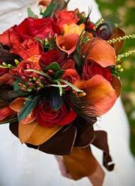 Autumn Wedding Flowers - 50 fall wedding bouquets for autumn brides orange roses