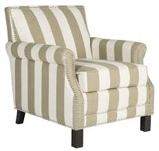 Accent Chairs For Dining Room Beige U0026 White Striped Accent Chair Safavieh Com