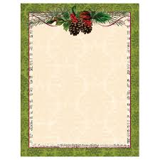 pinecone garland green border paper your