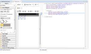 Matrix Layout Xml View | android is possible to view both graphic layout and layout xml in