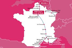 Provence France Map Tgv France Brussels U2013 Voyages Sncf Com