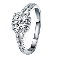 wedding ring malaysia luxury 925 silver diamond wedding ring hybrid simulated diamond