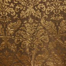 Upholstery Fabric For Curtains Gold And Olive Damask Fabric Upholstery Fabric Curtain Panels