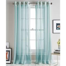 Blue Green Sheer Curtains Aqua Blue Curtains And Curtains Ideas Blue Sheer Curtain