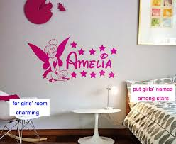 tinkerbell decorations for bedroom customer made tinkerbell fairy personalised names bedroom nursery
