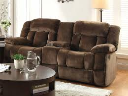 Reclining Sofa With Center Console Homelegance Laurelton Reclining Sofa Chocolate Textured