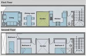 floor plans for long narrow houses