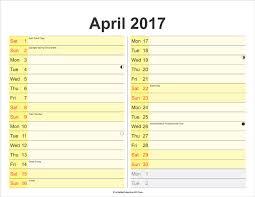printable calendar 2017 for planner month planner april 2017 free printable calendar 2017