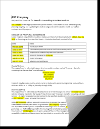 sample request for proposal u2013 hcw u2013 employee benefit services and
