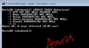 membuat database lewat cmd cara membuat database dan table mysql lewat command prompt cahaya