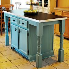 turquoise kitchen island kitchen island makeover kitchen before and after