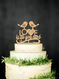 all you need is cake topper bird cake topper wedding cake topper is all you need