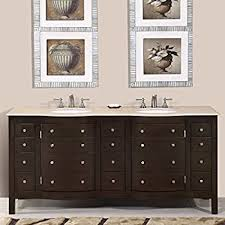Countertop Cabinet Bathroom Kitchen Bath Collection Kbc777brcarr Palazzo Double Sink Bathroom