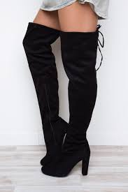 s high boots lose thigh high boots black shop priceless