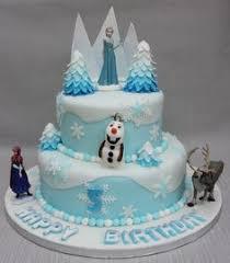 disney frozen elsa blue ombre birthday cake with white chocolate