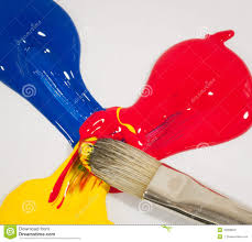 mixed primary colors stock photo image 45308603