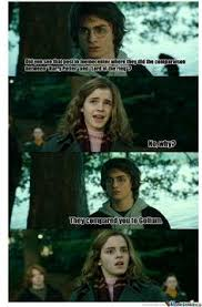 Harry Potter Firetruck Meme - horny harry hermione come by tonight i have a new potion you
